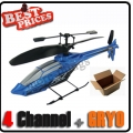 Blue GYRO 4ch 4 Channel RC Mini Helicopter Toy HCW 531+ USB + Free Shipping