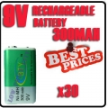 30x 9V BTY Green Ni-Mh Rechargeable Battery PPS block