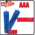 500 x AAA 1.2V Ni-MH Rechargeable battery Blue Cell for MP3 RC Toys