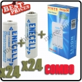 24 x AA 3000mAh +24 x AAA 1800mAh Rechargeable Battery 1.2V White+Charger*