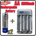 2x AA 1.2V Ni-MH rechargeable battery BTY for MP3 RC Toys Camera+Charger
