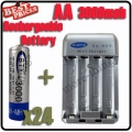 24 x AA 1.2V Ni-MH rechargeable battery BTY for MP3 RC Toys Camera+Charger
