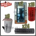 6 pc Sub C + 24pcs AAA 1.2V + 16 pcs D Size Ni-MH Rechargeable Battery+ Charger