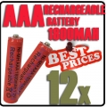 12 x AAA 1.2V Ni-MH Rechargeable battery Red Cell for MP3 RC Toys