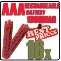 16 x AAA 1.2V Ni-MH Rechargeable battery Red Cell for MP3 RC Toys