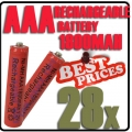 28x AAA 1.2V Ni-MH Rechargeable battery Red Cell for MP3 RC Toys