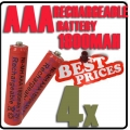4 x AAA 1.2V Ni-MH Rechargeable battery Red Cell for MP3 RC Toys
