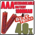 40x AAA 1.2V Ni-MH Rechargeable battery Red Cell for MP3 RC Toys