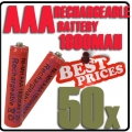 50x AAA 1.2V Ni-MH Rechargeable battery Red Cell for MP3 RC Toys