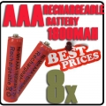 8 x AAA 1.2V Ni-MH Rechargeable battery Red Cell for MP3 RC Toys
