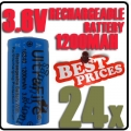 24 x 123A CR123A LR123A 3.6V Li-ion UltraFire Rechargeable Battery