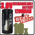 10 x CR123A 123A CR123 3V 3.0V GTL Rechargeable Battery Cell
