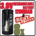 8 x CR123A 123A CR123 3V 3.0V GTL Rechargeable Battery Cell