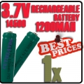 1 pcs ICR14500 3.7V Rechargeable battery Green for Flashlight