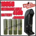 4 x 18650 3.7V UltraFire White Rechargeable Battery + Charger
