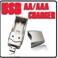 USB Charger for Ni-MH AA AAA Rechargeable Battery
