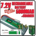 1 pcs 7.2V rechargeable battery pack + charger