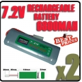 2 pcs 7.2V Ni-MH Rechargeable Battery Pack RC