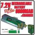 2 pcs 7.2V rechargeable battery pack + charger
