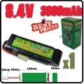 1x 8.4V NiMH Rechargeable Battery Pack For RC Airsoft + Charger