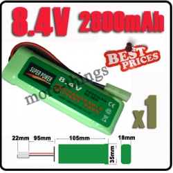 8.4V NiMH Super Power Rechargeable Battery Pack For RC Tank Airsoft