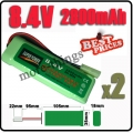 2 x 8.4V NiMH Super Power Rechargeable Battery Pack For RC Tank Airsoft