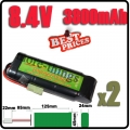 2x 8.4V NiMH Super Power Rechargeable Battery Pack For RC Tank Airsoft
