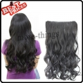 new style top fashion long curly wavy sexy 5 clips soft woman wig/wigs AAAA