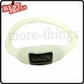 White New Fashion Silicone Rubber Nagative Sport Wristwatch Unisex Wholesale