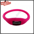 Pink New Fashion Silicone Rubber Nagative Sport Wristwatch Unisex Wholesale