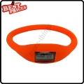 Orange New Fashion Silicone Rubber Nagative Sport Wristwatch Unisex Wholesale