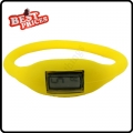 Yellow  New Fashion Silicone Rubber Nagative Sport Wristwatch Unisex Wholesale