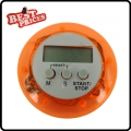 Orange Cute Digital LCD Kitchen Cook Number Timer Stop Watch Count Down Clock Alarm