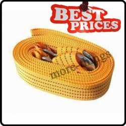 Car Vehicle Boat Tow Strap Towing Rope Hauling Cable String With Hooks 3M 3Ton