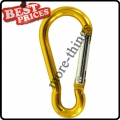Yellow Metal Carabiner Clip Snap Hook Key ring Keychain Camping Sport Karabiner
