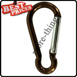 Brown Metal Carabiner Clip Snap Hook Key ring Keychain Camping Sport Karabiner