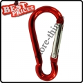 Red Metal Carabiner Clip Snap Hook Key ring Keychain Camping Sport Karabiner