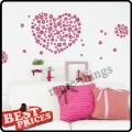 108 Pcs Red Fashion Flower Removable Wall Decor Sticker Art DIY Your Home
