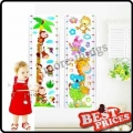 Cute Animals and Plants Kids Height Chart Removable Wall Sticker Nursery