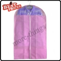 Pink Dust-proof Clothes Cover Suit Dress Garment Bag Non-Woven 60*110cm--B*