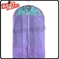 Purple Dust-proof Clothes Cover Suit Dress Garment Bag Non-Woven 60*110cm--B