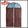 Brown Dust-proof Clothes Cover Suit Dress Garment Bag Non-Woven 60*110cm--B*