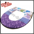 1PC Washable Cloth Warm Toilet Seat Cover Mat For Bathroom,Random Color