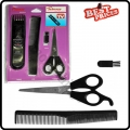 Professional Hair Cutting Scissors & Beard Trimmer & Comb Travel Set