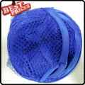 Dark Blue Convenient Mesh Collapsible Laundry Hampers Laundry Bag Basket Easy Open