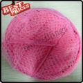 Pink Convenient Mesh Collapsible Laundry Hampers Laundry Bag Basket Easy Open